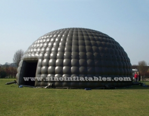 black giant inflatable dome tent