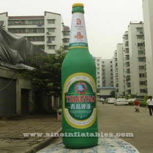 inflatable beer bottle with LED light available for Tsingtao beer promotion