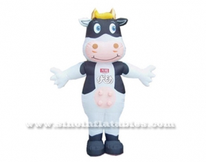 Outdoor cute advertising inflatable cow costume