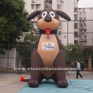 outdoor advertising puppy inflatable dog