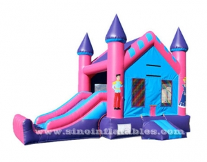 Best seller pink outdoor pinces N princess inflatable combo with slide-Sino Inflatables