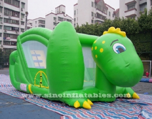 kids dino inflatable slide