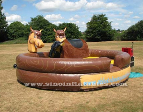 inflatable machanical horse ride