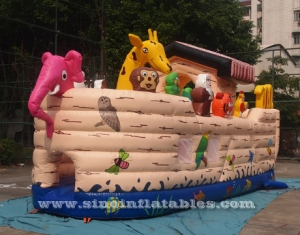 Noah's Ark inflatable bounce house