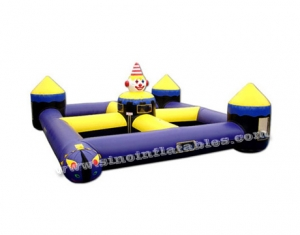 outdoor clown inflatable maze