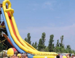 sharp inflatable tower water slide