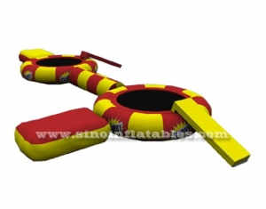 kids N adults twins inflatable water trampoline