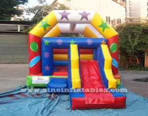 Kids parties bouncy castle with slide