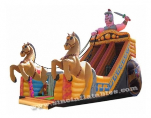 giant horse n cart inflatable slide