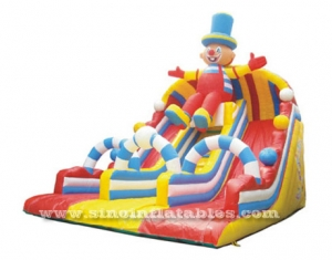colorful circus happy clown inflatable slide