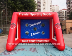 inflatable football goal games with big shoot