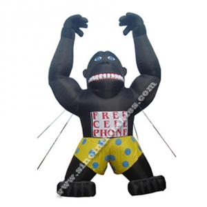 black Unique Tarzan inflatable gorilla