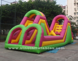 Giant commercial inflatable obstacle course