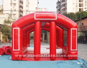 inflatable football obstacle course with tent