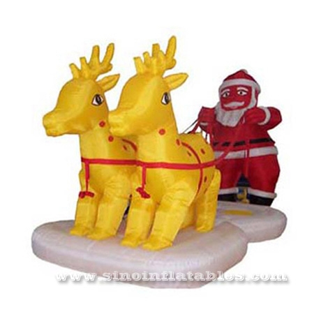Advertising Christmas Inflatable Reindeer Sleigh
