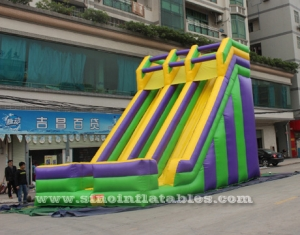 7 mts high big double lane inflatable slides