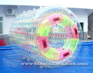 transparent double layers inflatable water roller ball