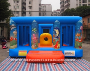 kids party sea world inflatable jumping castle