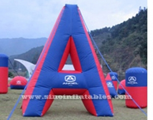 A shape inflatable paintball bunker game