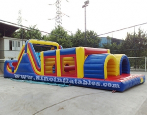 outdoor commercial inflatable obstacle course
