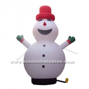 giant smile advertising inflatable snowman