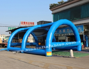 adults challenge running inflatable obstacle tent
