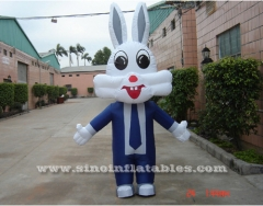 rabbit advertising inflatable moving carton