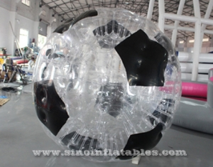 giant clear inflatable soccer ball