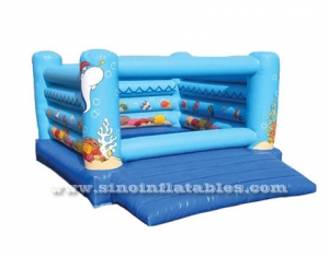 Sea world kids inflatable bouncy castle for backyard use