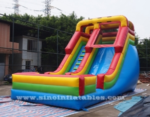 rainbow inflatable slide