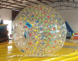 Giant solar inflatable zorb ball with colorful dots
