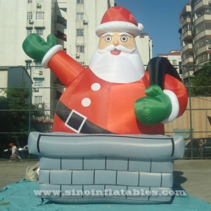 Giant funny inflatable Santa Claus