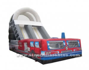 giant fire fighting inflatable slide