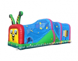 kids worm inflatable tunnel bouncer