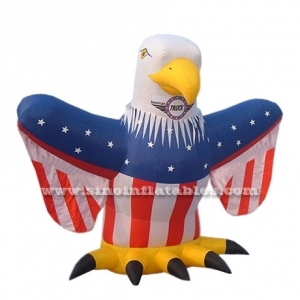stand promotion patriotic inflatable eagle