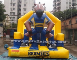 Brumbies Ruby inflatable obstacle course