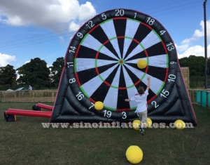 outdoor giant inflatable football darts board