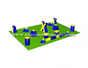paintball laser tag inflatable paintball bunkers for shooting game
