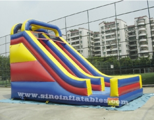 high single lane inflatable dry slide