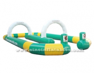 toddler go kart inflatable race track