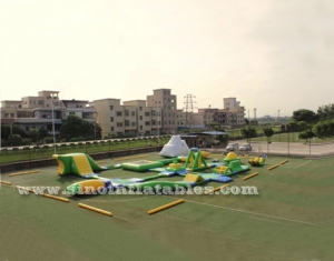 giant inflatable water playground