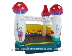 sunny day mushroom small inflatable bouncer