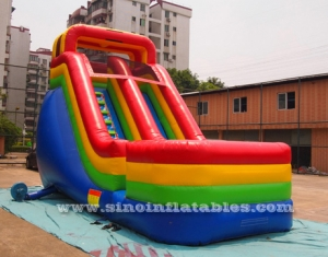18ft rainbow inflatable slide