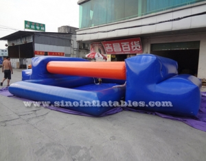 kids inflatable balance beam obstacle course with pool