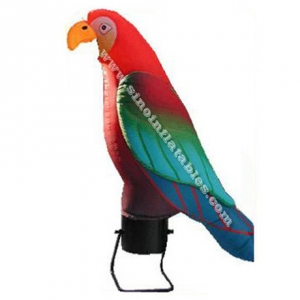 Big outdoor parrot inflatable advertisement