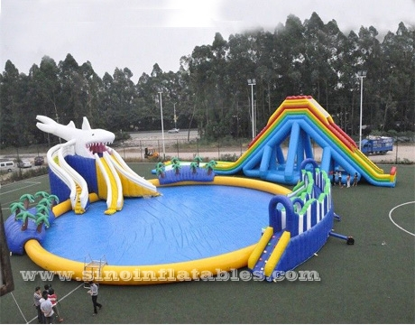 sea beach giant shark kids N adults inflatable water park