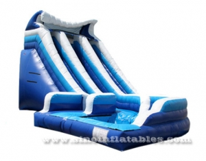 big curve inflatable blow up water slide