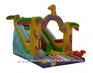 kids inflatable jungle slide