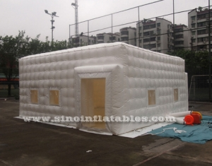 small white pvc inflatable cube tent