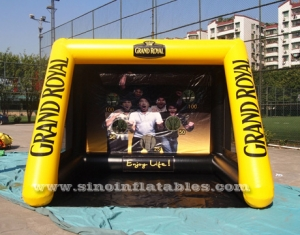 inflatable football shooting goal